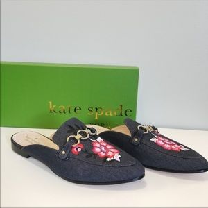 Kate Spade New York Denim Floral Mules